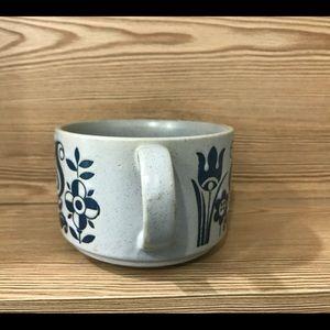 Vintage Dining - Superb Blue and gray big mug